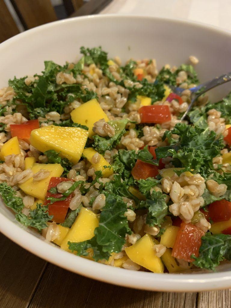 Vegan Farro & Mango Salad